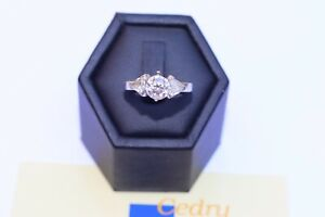 Bague E Wolf & Co Diamant naturel GIA report FAINT PINK 1,03 Cts