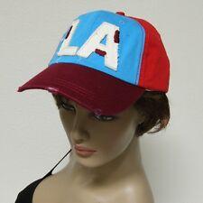 Multi Color LA Baseball Curved Bill Adjustable Strap Cap Hat Mens Womens New