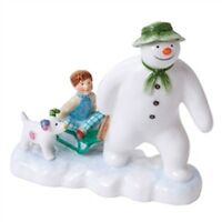 John Beswick Snowman Collection:  Billy And The Snowdog in Gift box