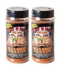 Hogs N Heat Mild and Savory BBQ Rub - 11 oz 2 PACK