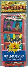 1991-92 Panini NHL Hockey Stickers Rack Pack (5 Packs), Gretzky Lemieux Roy etc