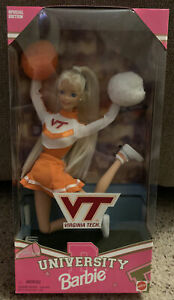 Virginia Tech Cheerleader Barbie Doll 1996 Special Edition