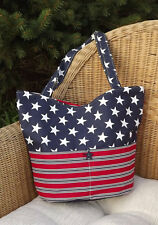 Patriotic Red White and Blue Flag Tote bag (Made In USA)