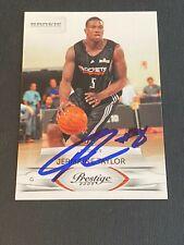 Jermaine Taylor Signed 2009-10 Panini Prestige Card Auto Rockets Autograph COA