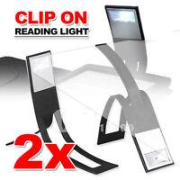 2X Flexible LED Clip-on Table Lamp Clamp Reading Study Bed Laptop Desk Light RF