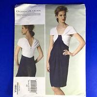Vogue Patterns V1281 American Designer Donna Karan  A5 6 8 10 12 14 Dress Uncut
