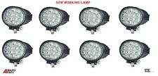 8 pcs 12V/24V 42 W 14 rond DEL Work Light Flood Beam Lampe 4x4 Jeep SUV ATV Boat