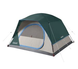 Coleman Skydome 4 Person Evergreen Tent Green Weathertec System Easy Set Up NEW
