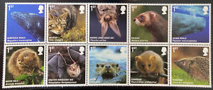 GREAT BRITAIN  2784a  Beautiful  Mint  NEVER  Hinged  Block  MAMMALS
