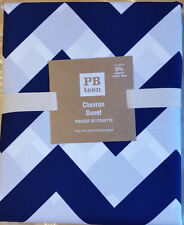 Pottery Barn Teen CHEVRON King Duvet Navy NEW No Longer Available