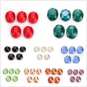 Beads 5pcs Bulk Crystal Oval Faceted Rondelle Glass 20mm Loose Wholesale Spacer