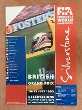 Sivlerstons F1 grand Prix Poster 1992 Brundle