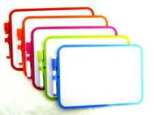WHITEBOARDS ***Plastic Frame Double Sided*** (18.5cm x 27.5cm) **QUANTITY X100**