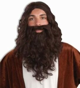Forum Novelties Adult Brown Biblical Jesus Theatrical Wig & Beard