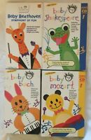 Baby Einstein - 4 VHS Tapes - Shakespeare Bach Mozart Beethoven