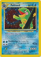 Politoed Holo Pokemon Card Neo Discovery 8/75
