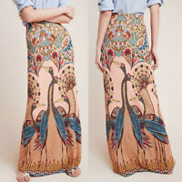 Fashion Women Ladies Straight High Waist Vintage Printed Casual Beach Long Skirt