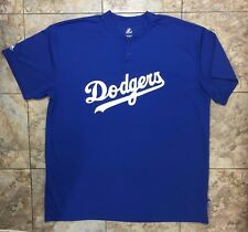 Majestic Brand Los Angeles DODGERS Blue T-Shirt  2XL JT's Fourty Something # 55