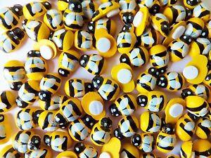 100pcs Wooden mini Bee embellishments, self adhesive-crafts-home decor
