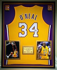 Premium Framed Shaquille O'Neal Signed Lakers Jersey - JSA COA - Shaq Oneal