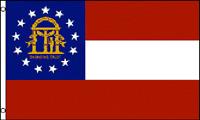3x5 Georgia Flag 3'x5' House Banner grommets super polyester