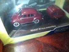 Miniature Renault 4CV et Caravane Ailette (222)