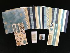 Ctmh Aspen Huge Lot 24 pages Scrapbooking Kit Stickease Stamp Ribbon Brads Acc's