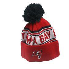 Tampa Bay Buccaneers NFL Kids Boys One Size Fits Most Cuffed Pom Knit Beanie New
