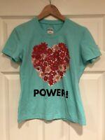 "Moschino Jeans Light Blue ""Flower Power"" T-shirt, Size 10 (US) 44 (IT)"