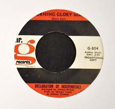 SUNSHINE POP Declaration Of Independence Mr. G 804 Morning Glory Man