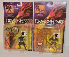 1995 DragonHeart Brave Knight Bowen & Kara w/ Axe Chopping Action 2 Figures