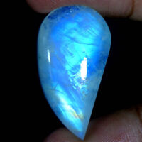 32.75Cts. 100% Natural Blue Fire Rainbow Moonstone Fancy Cabochon Gemstone SS202