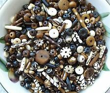 1/4 lb Pound LOT Bone Beads Mix Assortment Tube Round Rondelle Carved 4 oz