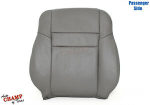 03-07 Honda Accord 4DR EX SE LX-Passenger Side Lean Back Leather Seat Cover Gray