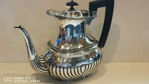Antique Ribbed L & W S 1879 silver plated Coffeepot Good quality clean condition