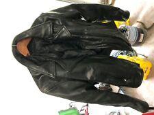 Genuine Leather Motorcycle Jacket Women's Large