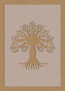 Tree of Life Roots Leaf Stencil