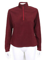 Patagonia Capilene Bordeaux Red Fleece 1/2 Zip Pullover Jacket Womens Small 5743
