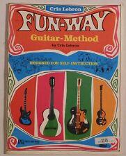 Fun-Way Guitar-Method Cris Lebron vintage music instruction book