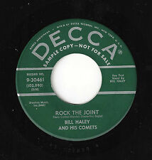 ♫BILL HALEY AND HIS COMETS Rock The Joint/How Many Decca 30461 GREEN PROMO ROCK♫