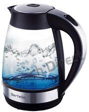 Bertelin Blue LED Illuminated Glass Kettle 1.7L 360 Cordless Electric - BL1503