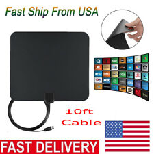 NEW Flat HD Digital Indoor Amplified TV Antenna HDTV with Amplifier 35 Miles US