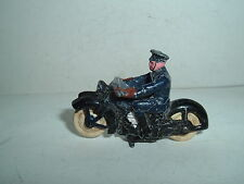 DINKY TOYS 37B POLICE MOTORBIKE USED PRE WAR REPAINTED SIGNS OF FATIGUE SEE PICS