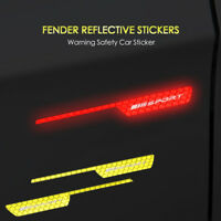 2 for Mercedes Benz AMG Side Wing Fender A B C E S Class Reflective Tape Sticker