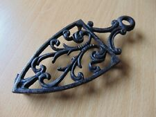 VINTAGE METAL CAST IRON CLOTHES IRON STAND VICTORIAN 19th CENTURY