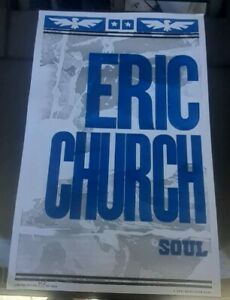 New 2021 Eric Church Soul Hatch Show Print limited edition hand numbered Poster