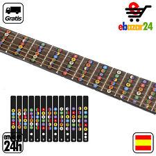 Pegatinas con Acordes notas etiquetas diapasón traste para 6 cuerdas Guitarra el