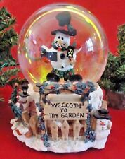 Musical Snowman Christmas Snow Globe Plays Winter Wonderland Holiday Xmas Song