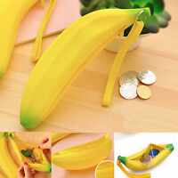 Pen Bag Storage Pouch Banana Coin Purse Stationery Bag Yellow Pen Holder Case