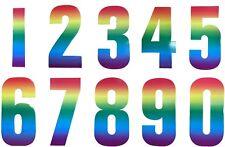 High Vis Rainbow Wheelie Bin Reflective Colour Number Sticker Dustbin Cafe House